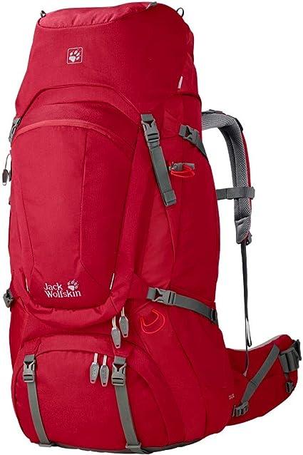 Buy Jack Wolfskin Women's Denali Rucksack, Indian Red, 60+8
