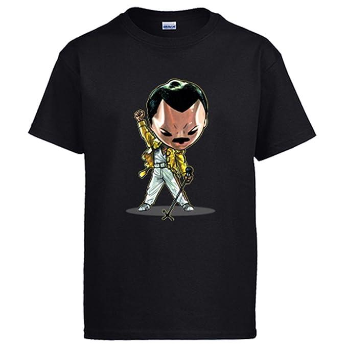 Diver Camisetas Camiseta Chibi Kawaii Freddie Mercury Parodia de Musicos Famosos: Amazon.es: Ropa y accesorios