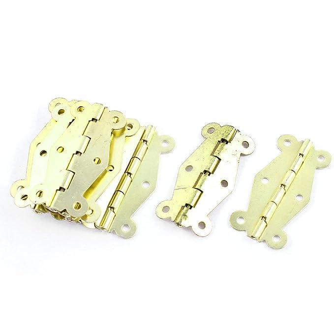 Fenster Schrank Metall Gold Ton Drehbare Tür Scharniere Hardware ...
