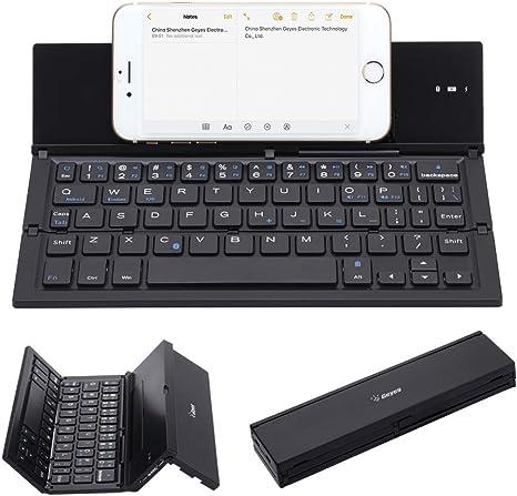 Teclado Bluetooth Plegable, Geyes Portátil Ultra-delgado Teclado ...