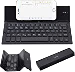 Folding Keyboard, Geyes Portable Ultra-Thin Rechargeable BT Wireless Keyboard Aluminum Alloy