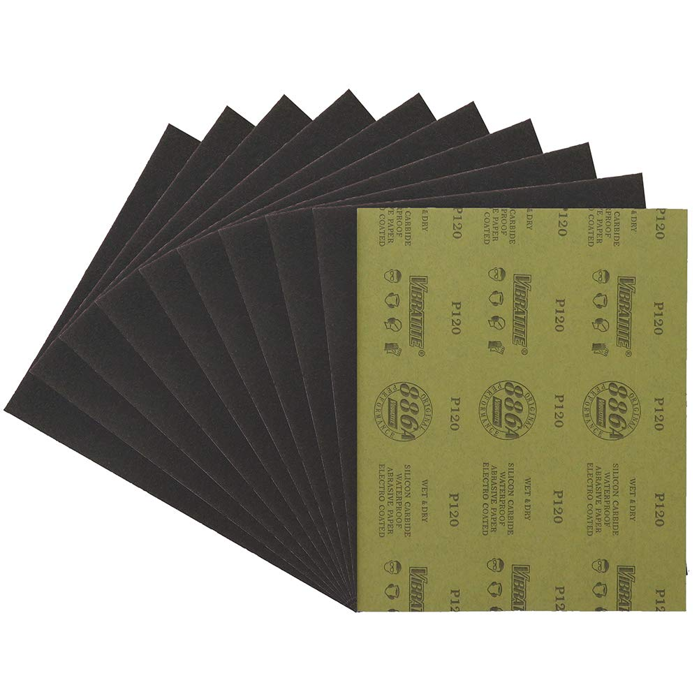 800 Grits 9 inch X 11 inch sanding sheets Silicon carbide sandpaper dry and wet waterproof for wood Automotive Metal 12 pieces