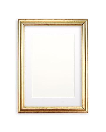Amazoncom Paintings Frames Gold Leaf Frame White Mount Photo