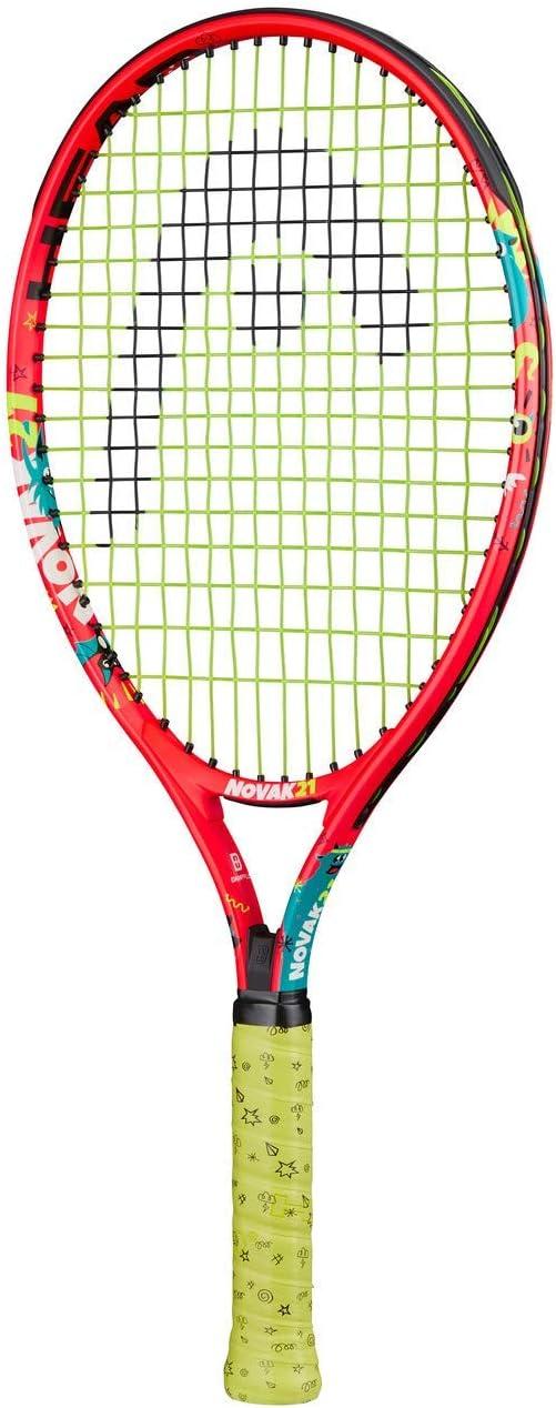 Head Novak 21 Raqueta de Tenis, Juventud Unisex, Multicolor, 4-6 años