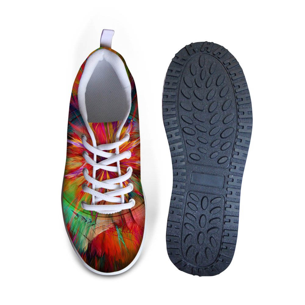 ArtistMixWay Womens Nebula Floral Breathable Athletic Running Lace-Up Sneakers Shoes