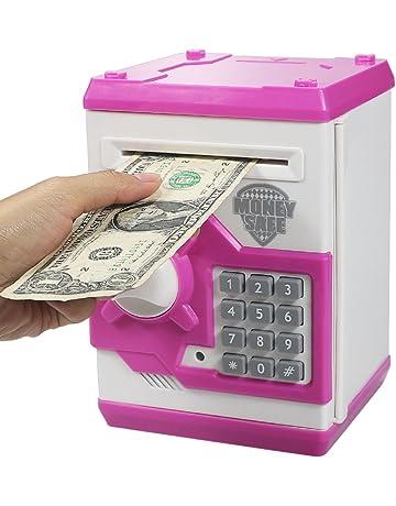 a562b9c4f Elemusi Cartoon Electronic Password Mini ATM Piggy Bank Cash Coin Can Auto  Scroll Paper Money Saving