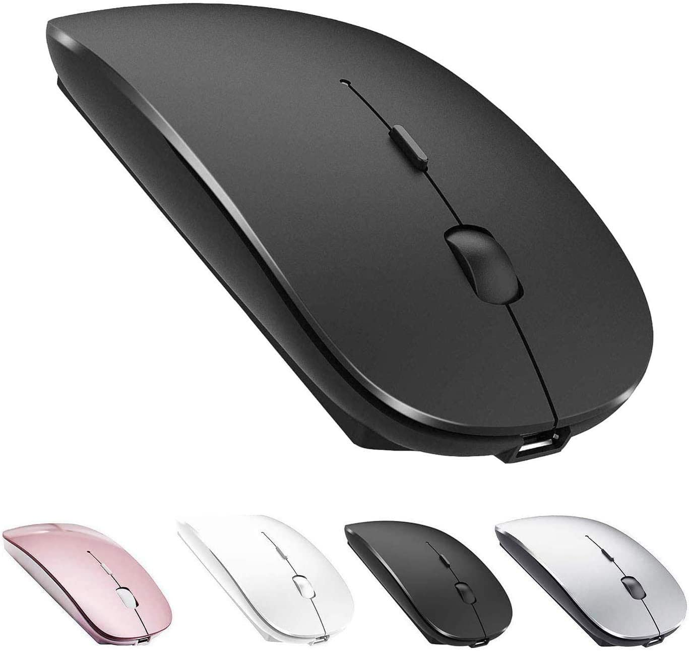 RENKUNDE Bluetooth Mouse for Tablet Wireless Mouse Rechargeable Mouse Mouse Color : Black