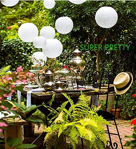 Chinese paper lanterns in white color assorted sizes 20 pack for wedding decoration, party decoration, home decoration, holiday decoration, baby shower shower ETC