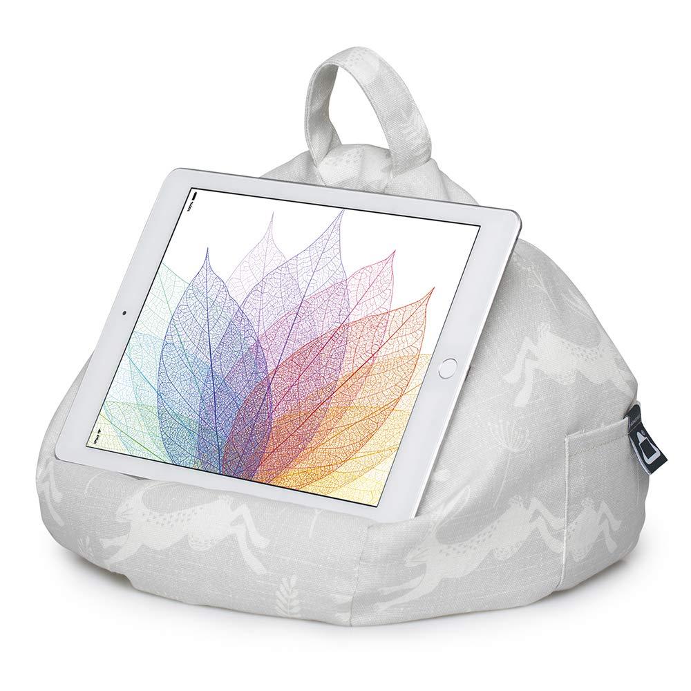 iBeani Soporte para iPad y Tableta, Soporte para cojín para Todos los Dispositivos, Cualquier ángulo en Cualquier Superficie Conejo Saltando