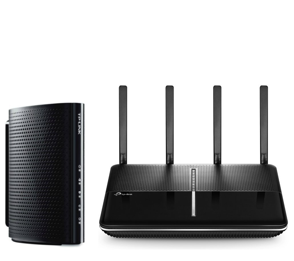 TP-Link Upgrade to Whole Home Wireless AC WiFi High Performance Bundle - Archer C3150 V2 Wireless Wi-Fi Router and DOCSIS 3.0 (16x4) High Speed Cable Modem Bundle by TP-LINK