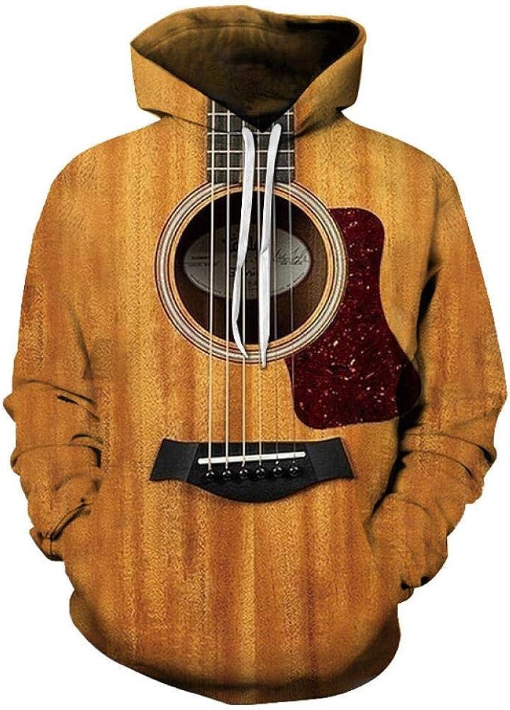 Sudadera con Capucha, Patrón De Guitarra Digital Impreso En 3D De ...