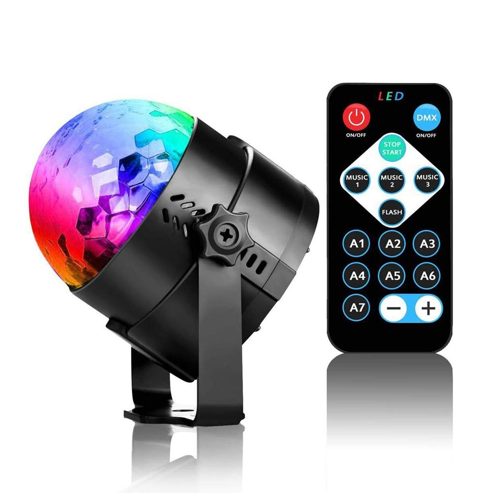 Disco Ball Strobe Light,Sound Activated Party Lights Disco Lights with Remote Control for Home Room Dancing Show Birthday Parties Karaoke Club Pub Xmas (Water Ripple Effect)