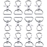 Swivel Clasps Lanyard Snap Hook Lobster Claw Clasp,with 1 inch inner width D ring,Pack of 60