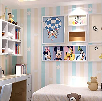 Tapete Cartoon Vertikale Streifen Vliestapete Fur Schlafzimmer
