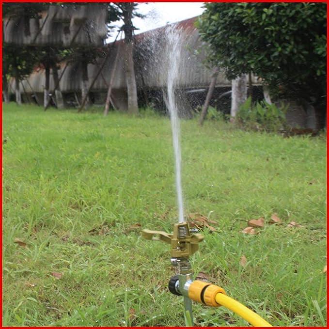 Yardwe Aspersores de riego Jardin automatico cesped aspersor de 360 Grados para el jardín, aspersor Giratorio al Aire Libre para el Sistema de irrigación del césped: Amazon.es: Jardín