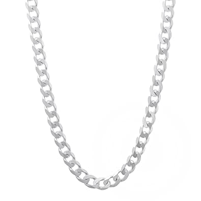 925 Silver Chain >> Nyc Sterling Men S 5mm Solid Sterling Silver 925 Curb Link Chain