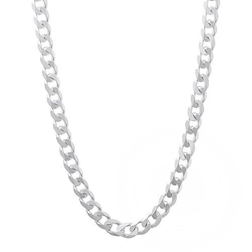 0f8e4b2ab27 NYC Sterling Men s 5mm Solid Sterling Silver .925 Curb Link Chain Necklace