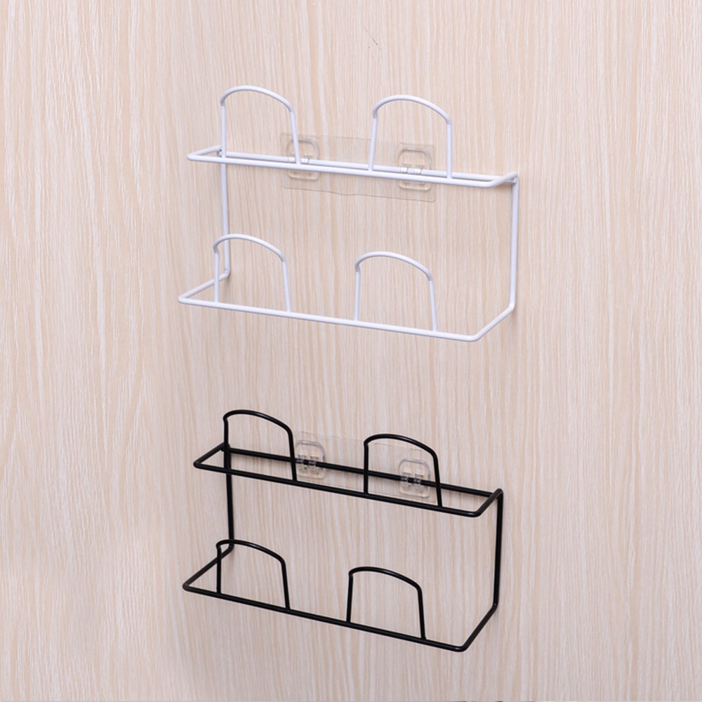 LONGPRO Wall Mounted 2 Tier Shoes Rack Slipper Shelf Storage Organizer Shoes Shelf Holder Sticky Shoe Storage Organizer Wall Shoe Hangers Wall Shoe Hangers Set of 2 Pack for Entryway Bathroom Shower R by Longpro (Image #7)