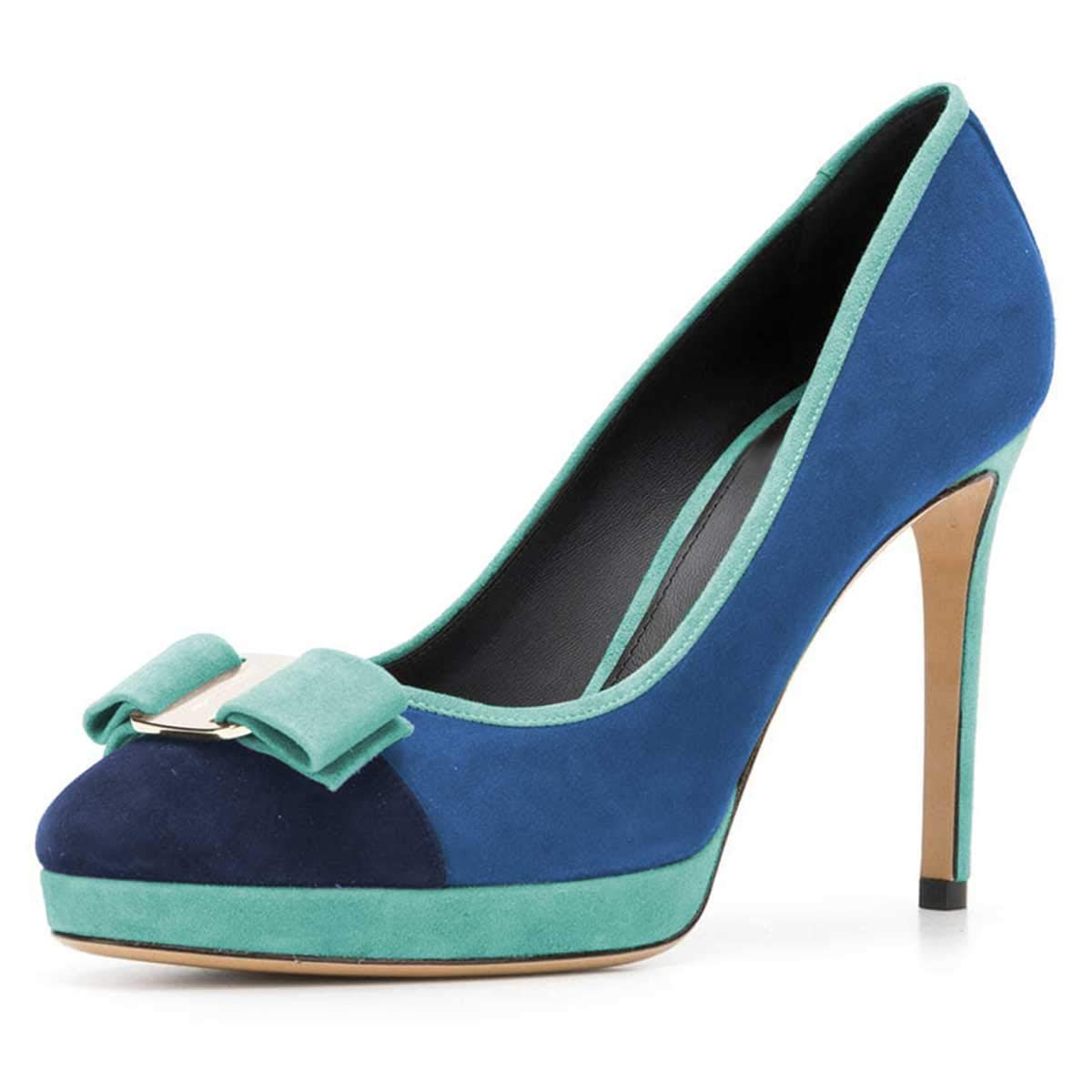 59d2bdc06a9 Amazon.com | FSJ Women Cute Bowknot Pumps Round Toe Platform ...