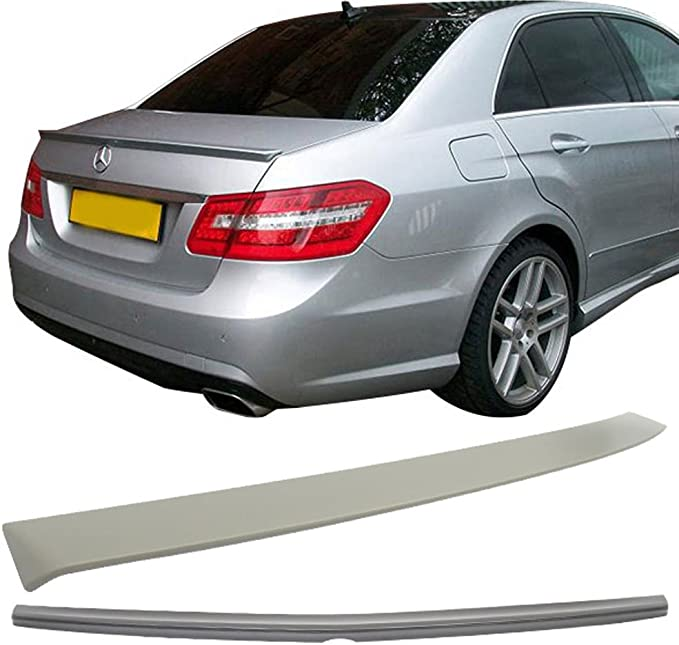Fit For 10-16 Benz E-Class W212 4Dr OE Style Unpainted ABS Roof Spoiler