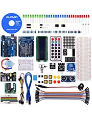 kuman Project Super Starter Kit with Tutorial, UNO-R3 Mega2560 Mega328 Nano kits, Prototype Expansion Board, Stepper motor, Breadboard, Accessories for Arudino K4