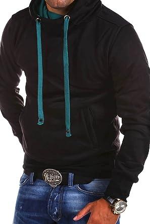 MT Styles - 1602 - Sudadera con capucha y cuello alto - Negro - XXL: Amazon.es: Ropa y accesorios