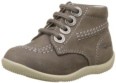 Chaussures à lacets KICKERS cuir kaki 22 HuOSbJT
