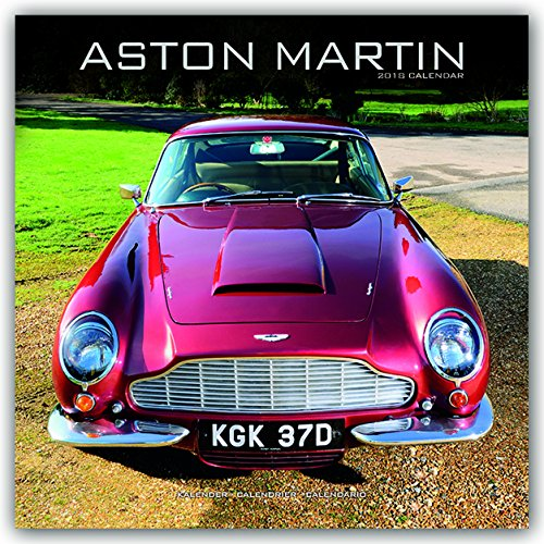 Aston Martin Calendar - Calendars 2017 - 2018 Wall Calendars - Car Calendars - James Bond - Aston Martin 16 Month Wall Calendar by Avonside