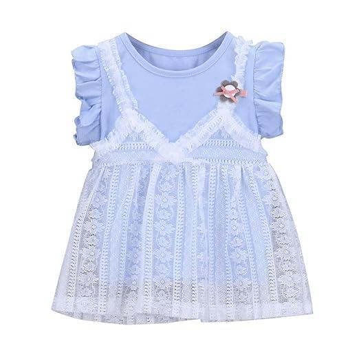 737b5dc1862 Amazon.com  Hatoys Cute Floral Ruffles Lace Dress