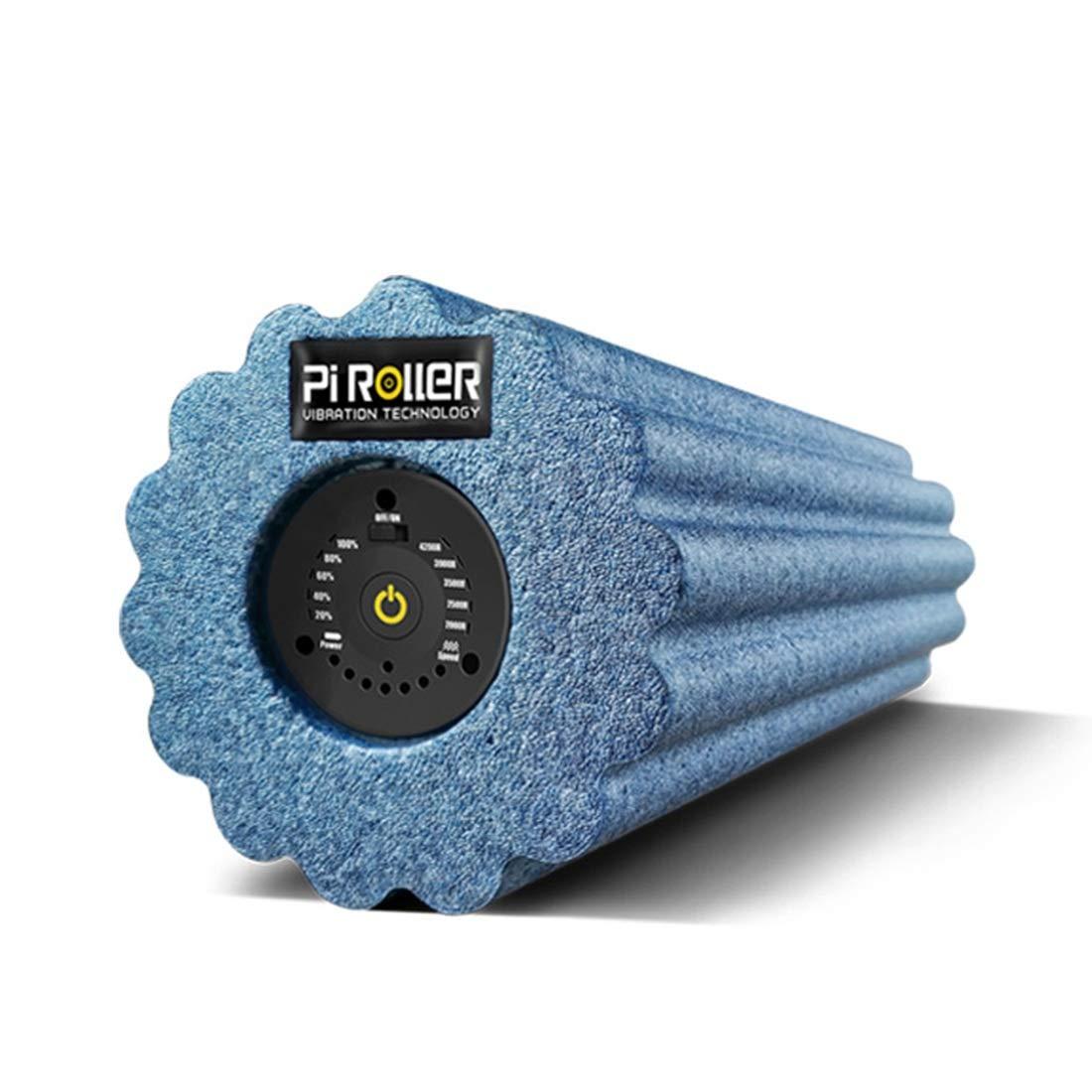 PUWENYCC 5 Geschwindigkeits-elektrische Erschütterungs-Schaum-Schaft-Yoga-Spalten-Rolle blaues königsblaues hohes EPP 2-6 Stunden tiefes Gewebe-Massager für Sport-Massage-Therapie