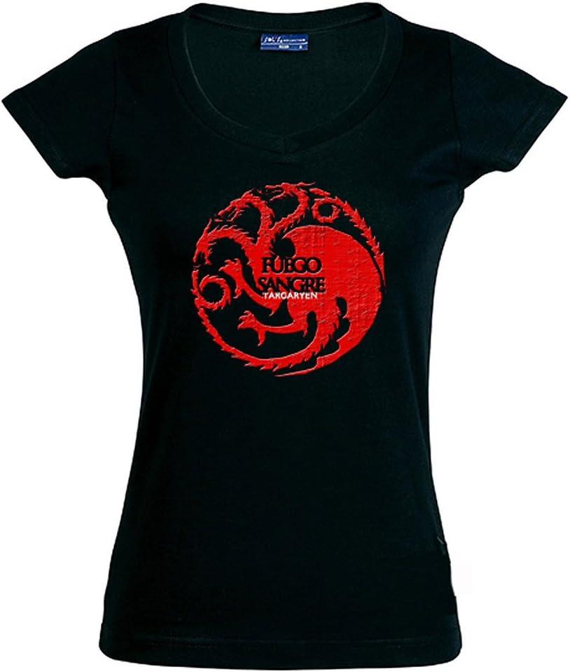 Mx Games Camiseta Juego de Tronos-Casa Tagaryen-Manga Corta Chica