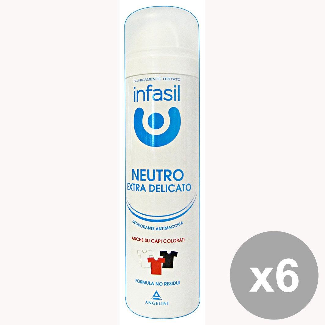 Set 6 INFASIL Deodorante Spray Neutro ExtraDEL.150 ML Cura del corpo