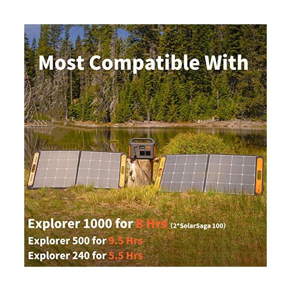 61992ovpisL Jackery Faltbares Solarpanel SolarSaga 100 - Solarmodul für Explorer 240/500/1000 Tragbare Powerstation - Solarladegerät…