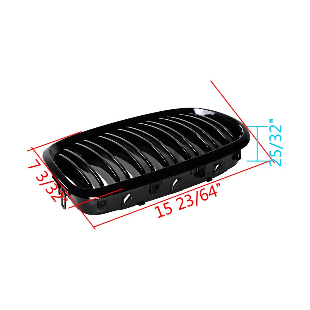 Astra Depot Glossy Black M-Color Front Hood Kidney Grille for E70 X5 X5M E71 X6 X6M E72 X6 Hybrid Kidney Grille Grill Selected