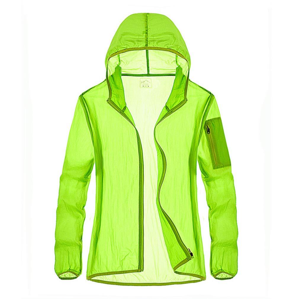 Women'sFruitGreen XL Lightweight Jacket Spring Summer, Anti UV Sun Predection Men Women Breathable Quick Dry Outdoor Sport Jackets Fishing Running Cycling Waterproof Clothing