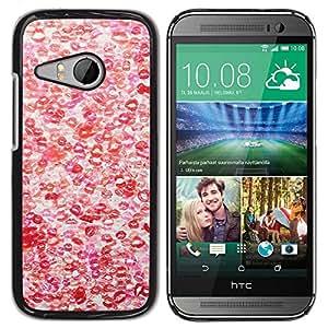 Be Good Phone Accessory // Dura Cáscara cubierta Protectora Caso Carcasa Funda de Protección para HTC ONE MINI 2 / M8 MINI // Hot Love Red White Pattern