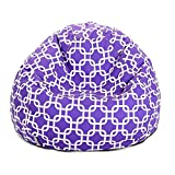 Majestic Home Goods Purple Links Small Bean Bag