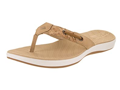 0e43fc41fa5a Sperry Women s Seabrook Surf Flip Flop Linen Natural Cork 11 ...