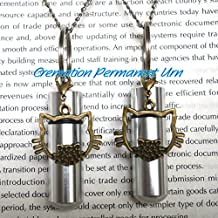 Cremation Permanent Urn Cat Urn Necklace - Memorial Cat cremation Jewelry - Remembrance Necklace - Sympathy Gift - Memorial Necklace - Cylinder Urn,Cat cremation Collection ,memory jewelry