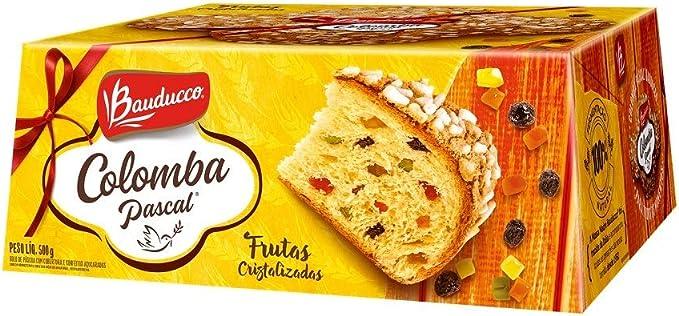 Colomba Pascal Frutas Cristalizadas 500g - Bauducco: Amazon.com.br: Alimentos e Bebidas