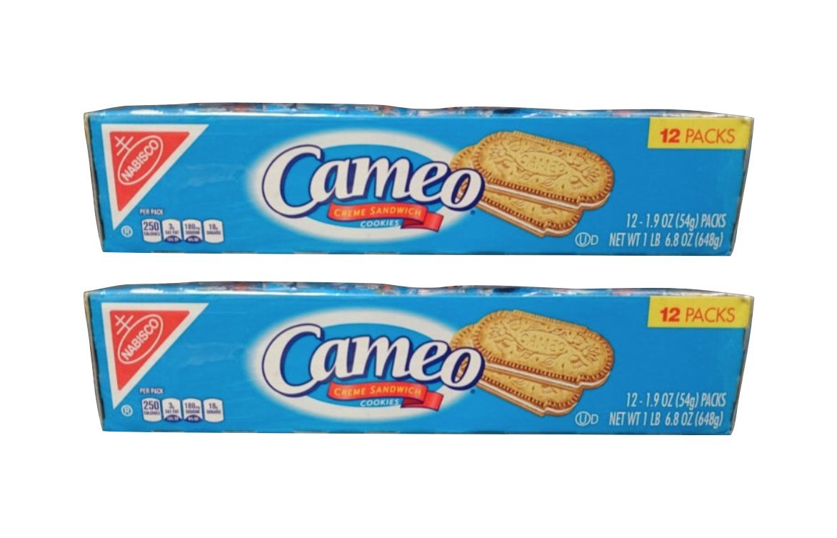 Amazon.com: 4 Boxes of 12 Packs Cameo Creme Sandwich Cookies (48 Sleeves) by Nabisco
