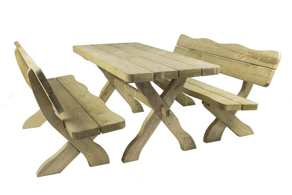 Gartenmöbel Set \'Farm\' 170 cm, Gartentisch und 2 Gartenbänke ...