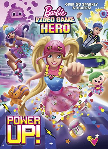 Power-Up-Barbie-Video-Game-Hero-Hologramatic-Sticker-Book