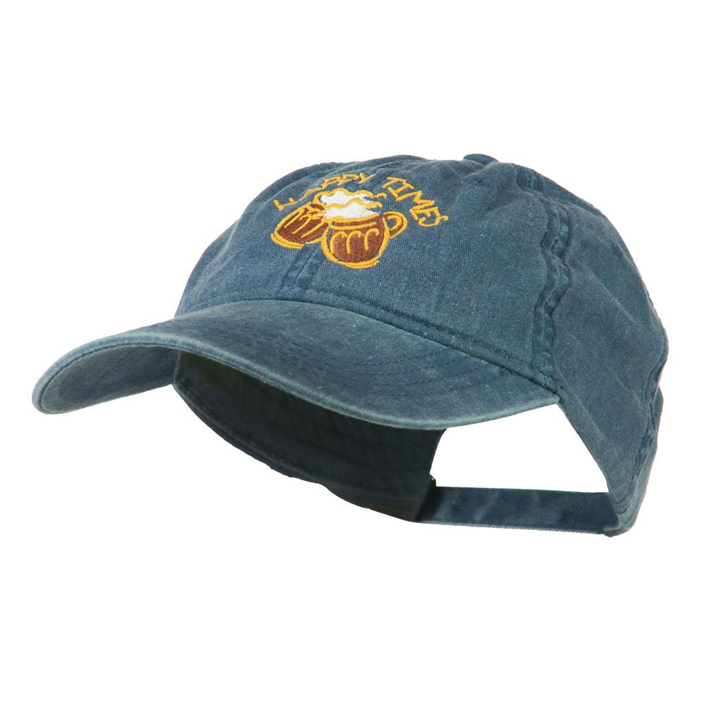 a2afc7c82e2 E4hats Good Times Beer Image Embroidered Washed Cap - Navy OSFM at Amazon  Men s Clothing store