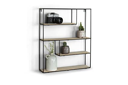 Amazon.com: LIFA LIVING Rectangle Wall Shelf Unit | 4 Tier ...