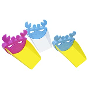 Leyaron Faucet Extender Sink Handle Extender (3 Pack), Safe Fun Hand-Washing Solution for Babies, Toddlers, Kids and Children, Teach Your Kids Good Sanitation Habits, Crab