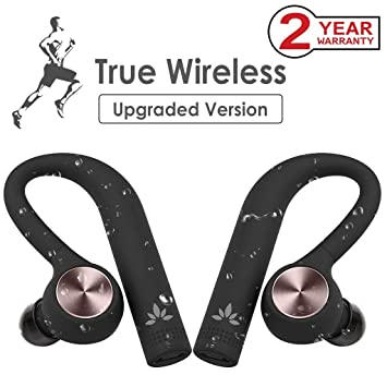 Avantree TWS109 TWS True Wireless Auriculares Inalámbricos IPX5 Impermeables a Prueba de Sudor, In Ear Headset Audífonos Bluetooth 4.2 sin conexión por ...