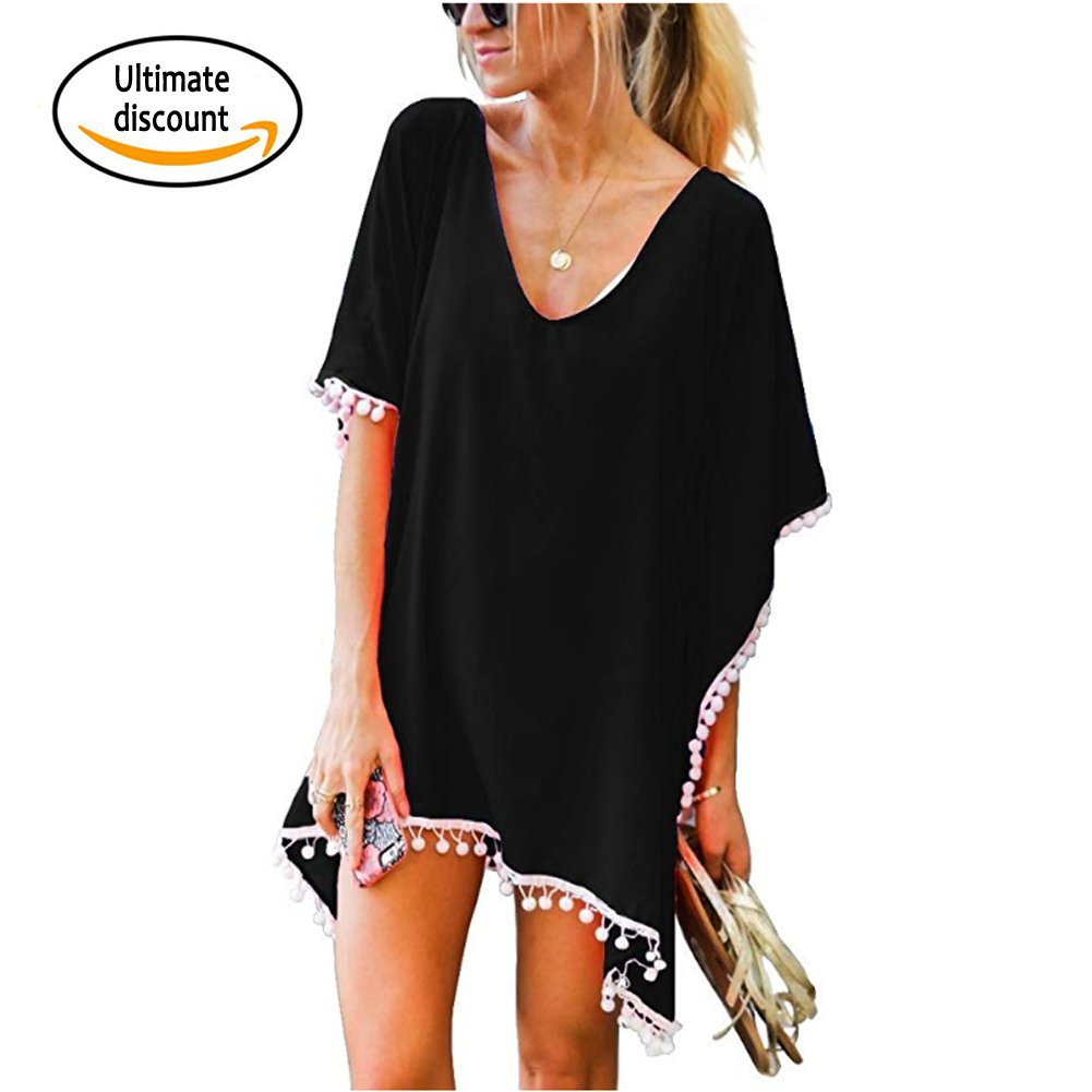 31b4958a1 YesFashion Pareo Playa de Gasa Traje de Baño Vestido de la Playa Bikini  Cover up Camisola de Playa: Amazon.es: Ropa y accesorios