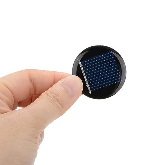 Sourcingmap/® 5 STK 1V 50 mA Solarzelle Panel-Modul Laden Platte 34 mm x 17 mm DE de