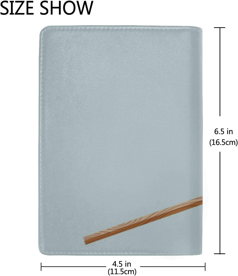 Leather Passport Cover Isolated Flames Burning Matches Stylish Pu Leather Travel Accessories Passport Case Cover For Women Men